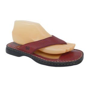 Born Red Leather Thong Sandals Flip Flops